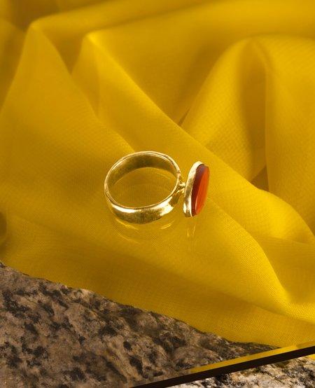 Ora-C FRANKIE Ring - brass