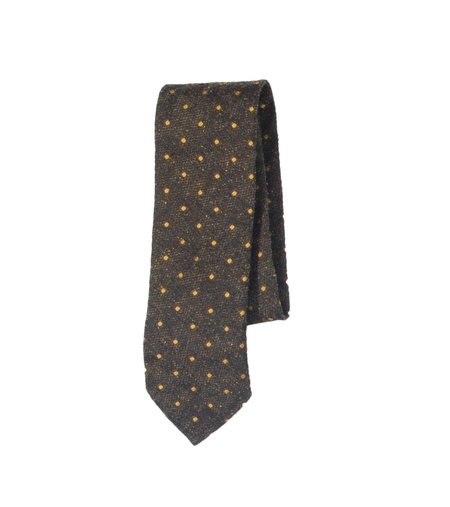 Freemans Sporting Club Unstructured Necktie - Green Dot