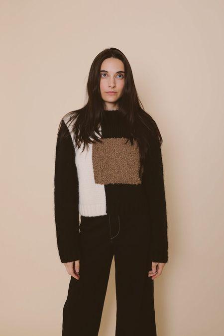 Kordal Josef Sweater - Black/White/Brown