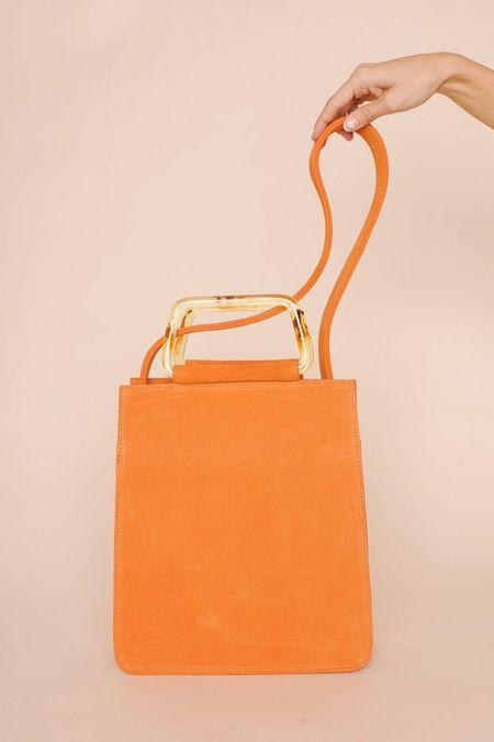 Clyde Rectangle Bag in Persimmon - Orange