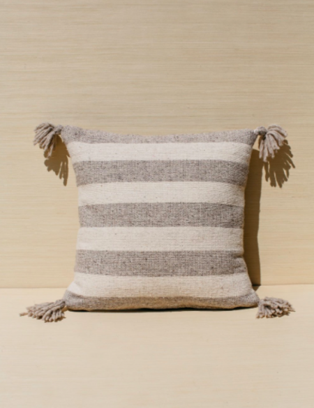 Territory Ancho Stripe Pillow - Grey