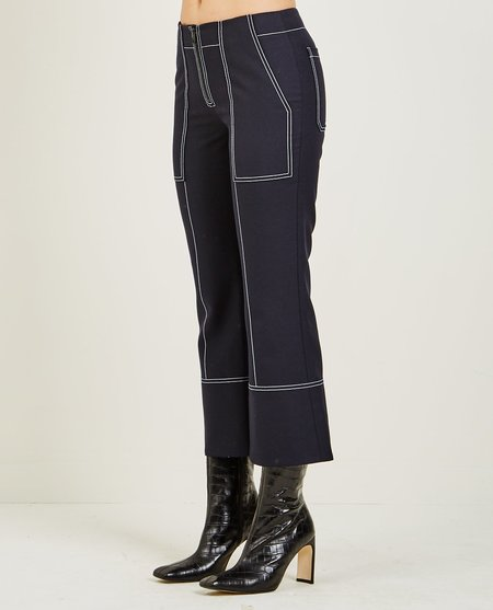 Kenzo TAILORED CROPPED PANT - Navy