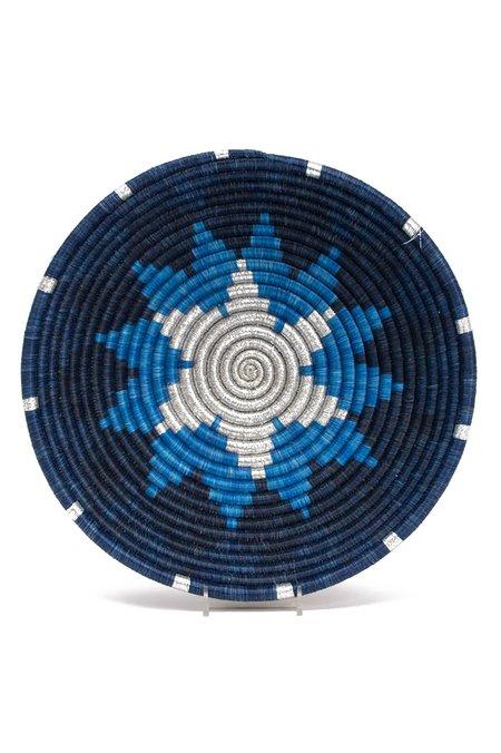 All Across Africa Large Hope Bowl - Metallic Blue