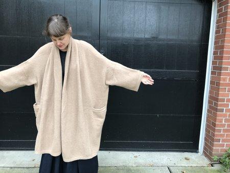 Atelier Delphine Alpaca Haori Coat - Nude Rose