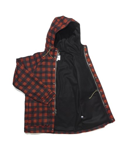 Freemans Sporting Club Isle of Man Wax Cotton Jacket - Red Plaid