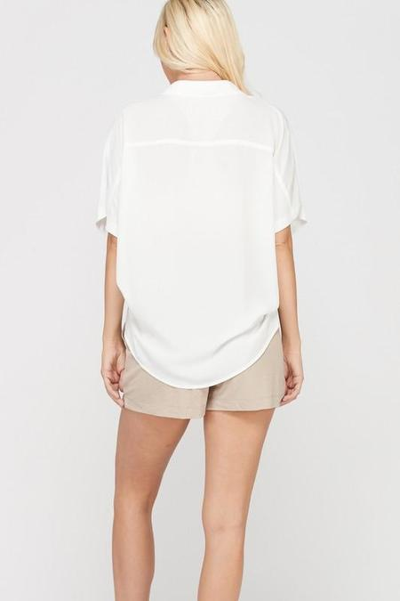Wishlist  Willy Crepe Button Down Top - Ivory