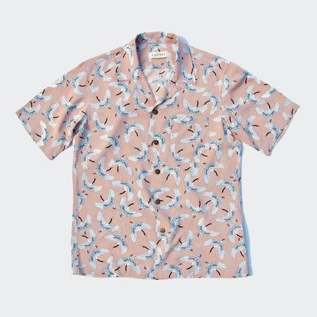 Footage Tropics Shirt - Blush Crane