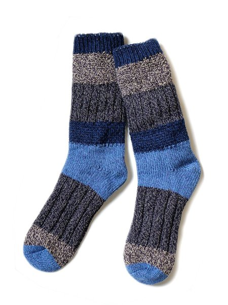 Unisex Kapital 56 Yarns Kogin Grandrelle Stretch Socks - Navy