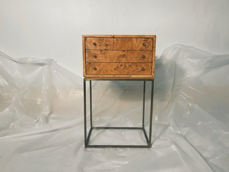 Good Medicine Vintage Milo Baughman for Thayer Coggin Burlwood Side Table
