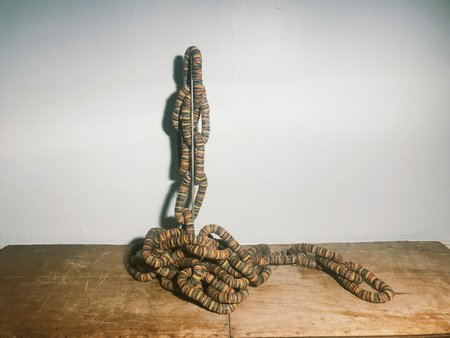 Outsider Art Bottle Cap Chain By Gregory Warmack