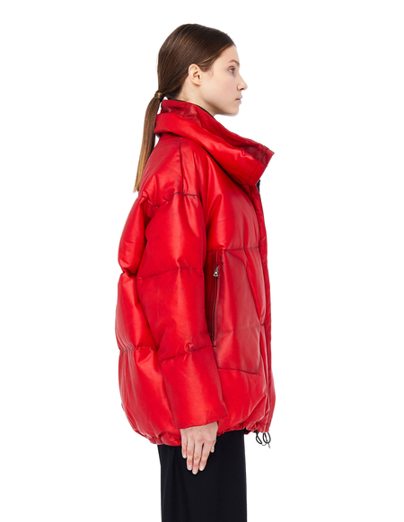 Isaac Sellam Leather Down Jacket - Red
