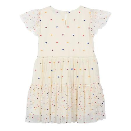 KIDS Stella McCartney Child Karina Tiered Tulle Dress - Cream/Multicolour Hearts