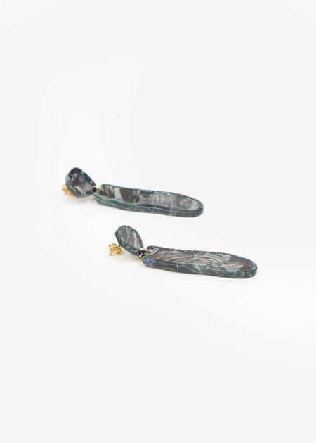 Après Ski Flos Marble Earrings - Grey