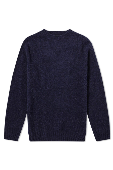 Hunting Ensemble Shaggy Wool Knit - Navy