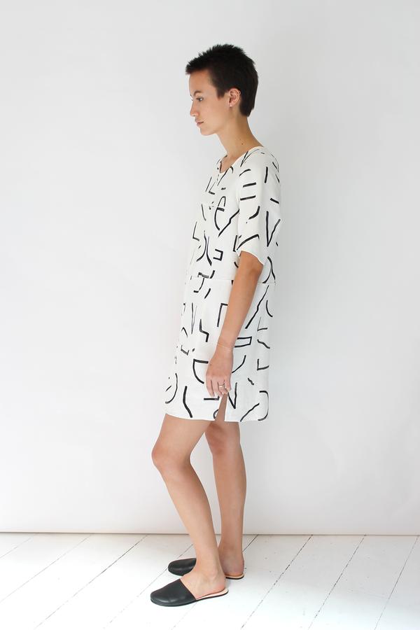 Dusen Dusen super check dress | lines