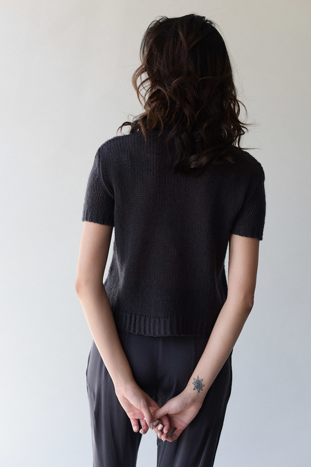 Private 0204 Short Sleeve Cashmere Sweater
