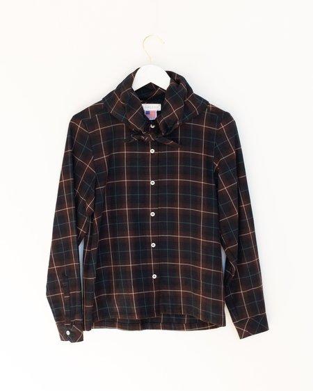Carleen Bandana Shirt - Black Plaid