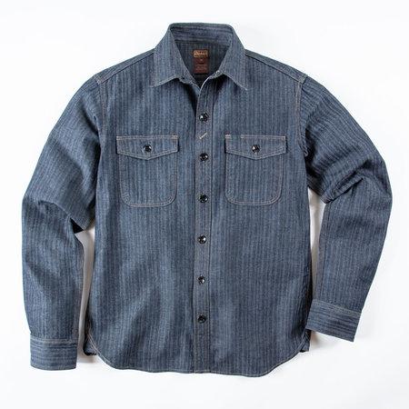 Dickie's 1922 Japanese Fisher Stripe Shirt - Indigo Herringbone