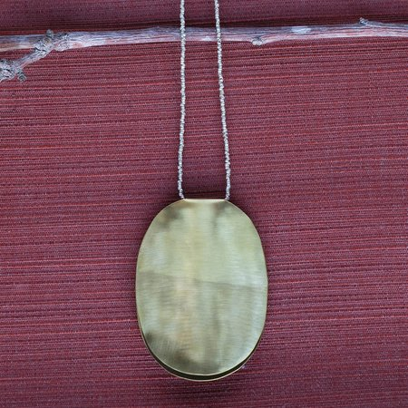Meus The Empress Pendant Necklace - Brass