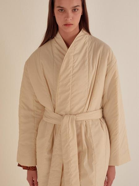 HOTELNUANCE Long Padded  Robe - Ivory