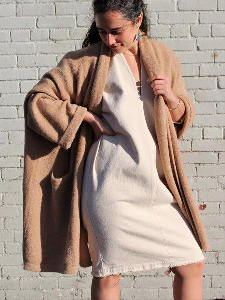 Atelier Delphine Haori Alpaca Coat - Nude Rose