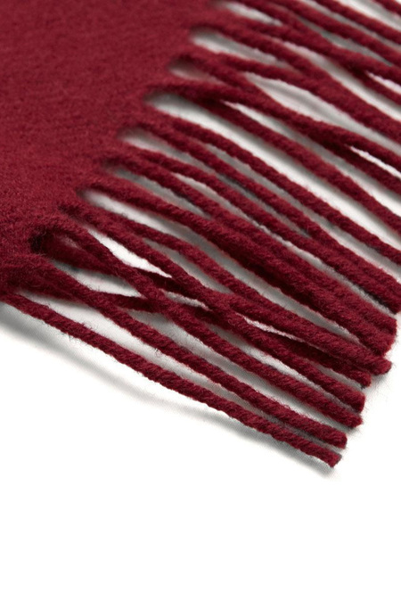 Unisex Hunting Ensemble Lambswool Scarf - Deep Red