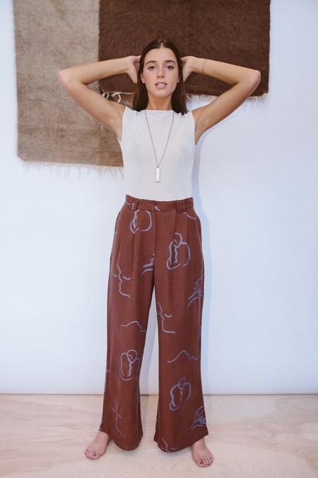 Paloma Wool Volcano Trousers - Chocolate Brown