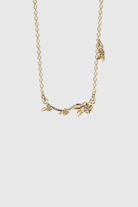 Meadowlark Alba Vine Necklace Stone Set - Gold Plated/Grey Diamond
