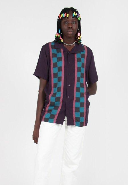 Lazy Oaf Check Stripe Shirt - Blue