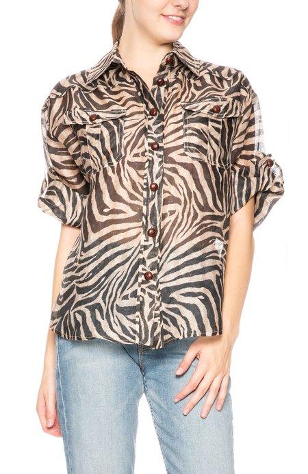 Zimmermann Linen Shirt - Zebra Print