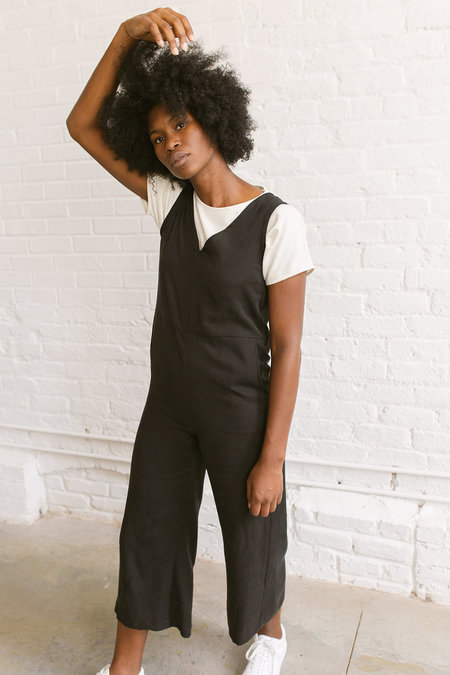 Two Fold Rai Jumpsuit - Black