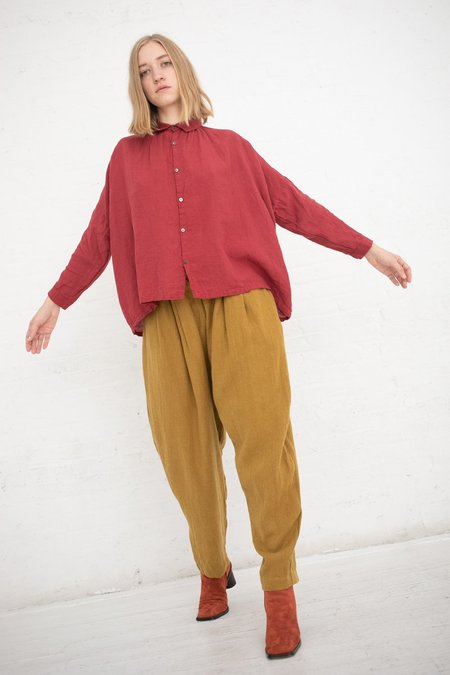 ICHI ANTIQUITES Linen/Wool Pant - Yellow