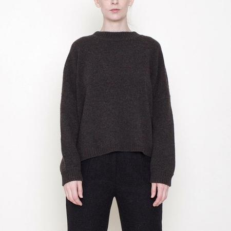 7115 by Szeki Classic Crewneck Wool Sweater - Coco Brown