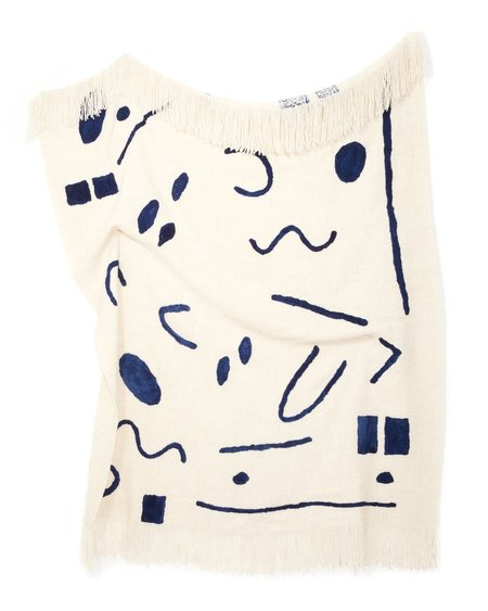 MINNA Abstract Throw - Indigo