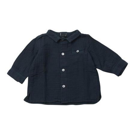 KIDS Bonton Baby Journal Long Sleeved Shirt - Shark Blue