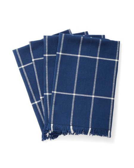 MINNA Set of 4 Grid Napkin - INDIGO