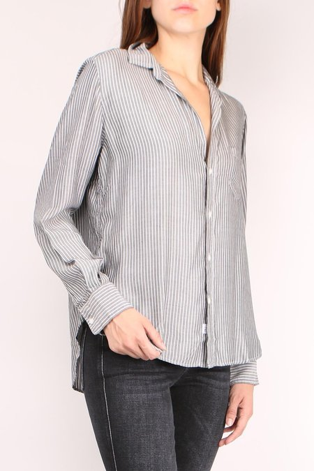 Frank & Eileen Eileen Long Sleeve Button Down shirt - Black/White Stripe