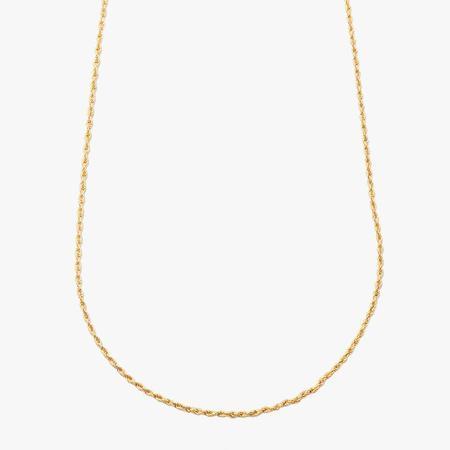 """Loren Stewart 24"""" Rope Chain Necklace - 10k Gold"""