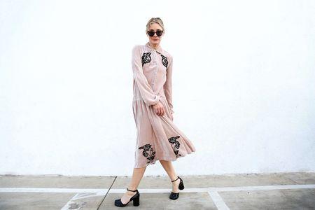 Vivetta Ballarat Velvet Dress - Blush