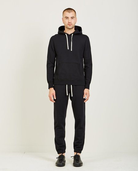 Reigning Champ CORE PULLOVER HOODIE - BLACK