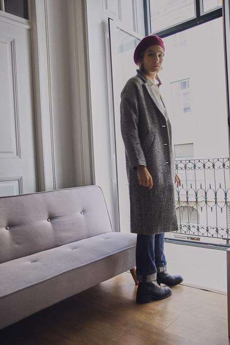 Yuka Paris Bela Wool Herringbone Coat