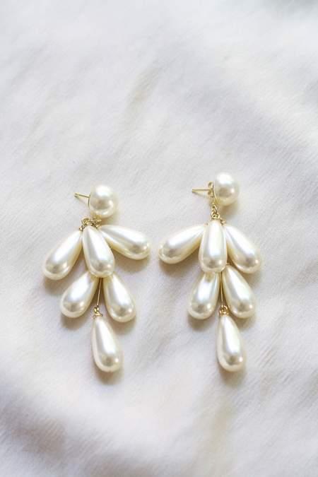 Bird on A WIRE Pearl Tear Drop Earrings