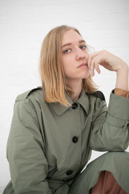 Shaina Mote Uma Nylon Trench - Moss green