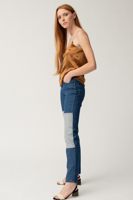 Carleen Two-Tone Jeans - blue