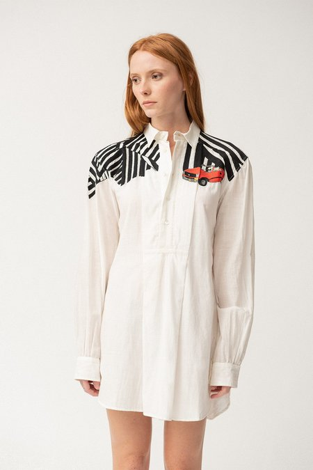 KILOMETRE X ANTIDOTE Wynwood, Miami, USA Ultra-Light Shirt - White