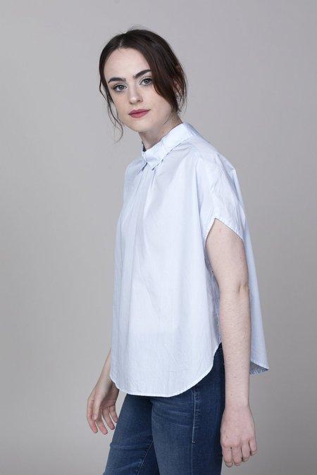 Gallego Desportes Sleeveless Button Back Shirt - Light Blue