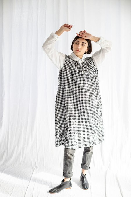 Pip-squeak Chapeau Etc. Poet No Sleeve Dress - Gingham