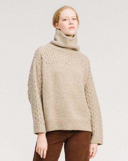 Wol Hide Lace sleeve turtleneck - dune