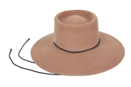 Clyde Angora Gaucho Hat - Fawn Brown