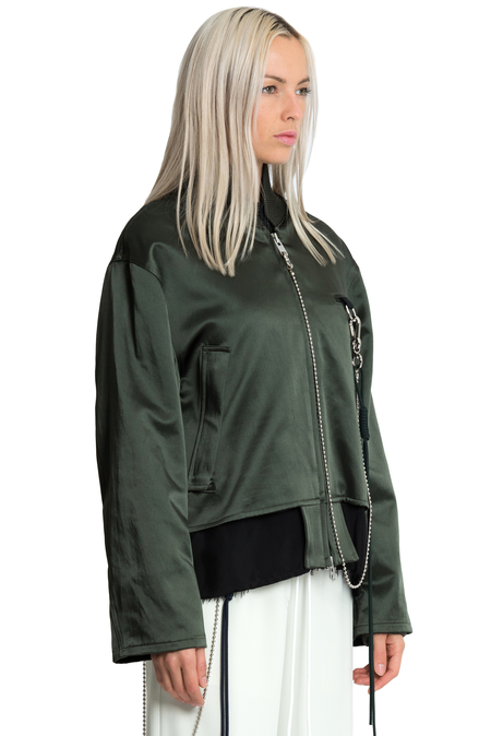 Song for the Mute Deconstructed Bomber Jacket - Green